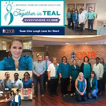Team QNB 2021 National Ovarian Cancer Coalition Teal Day