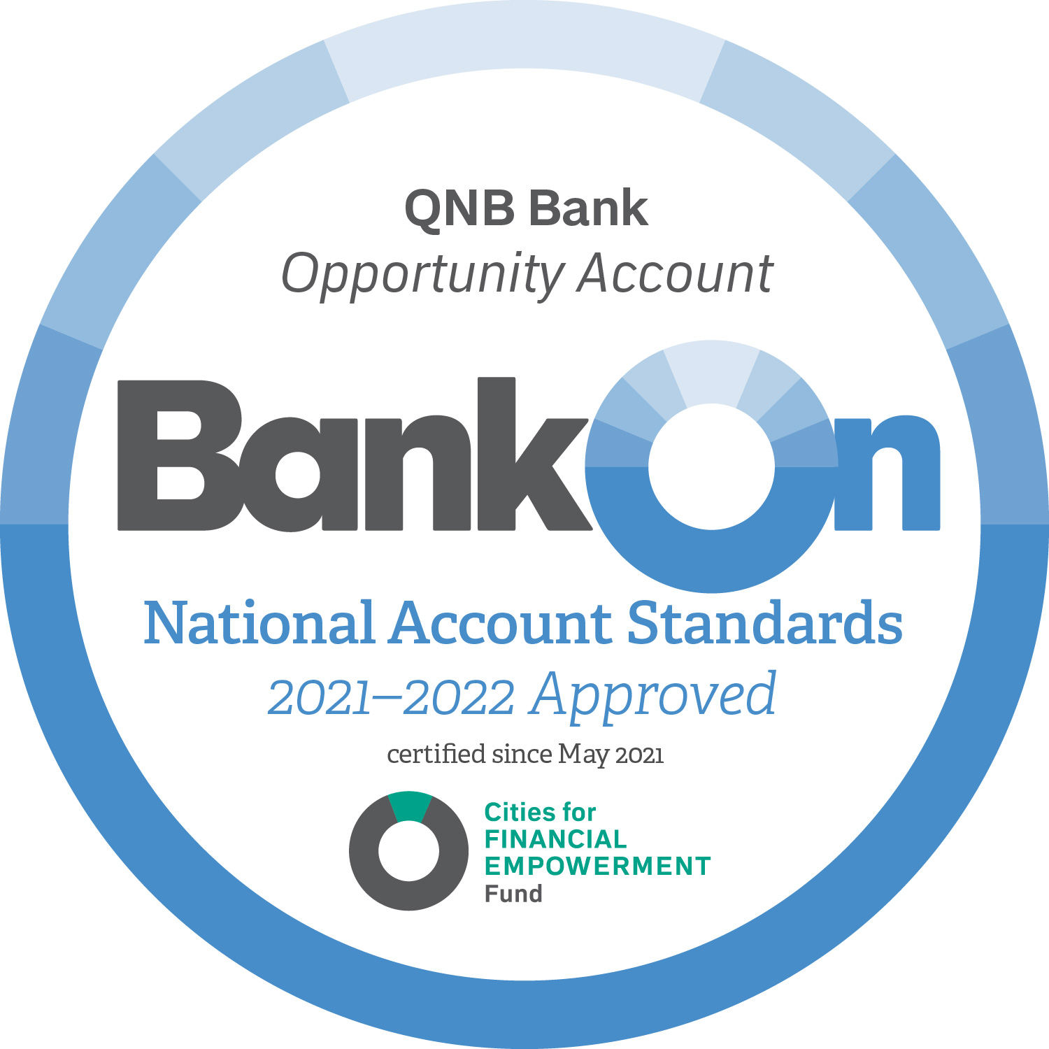 Bank On Approval for National Account Standards