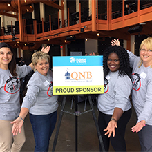 Courtney, Sherrie, Jennifer, and Lynn of QNB Bank at the 2018 She Nailed It Competition at ArtsQuest Musikfest Cafe.