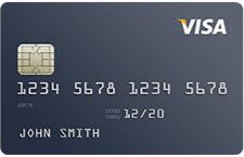 Sample Visa business credit card