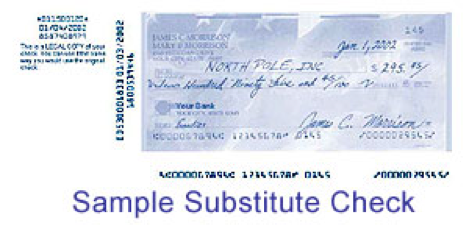 Sample Substitute Check
